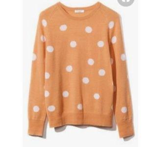 Equipment Sloane Cashmere Dot Canteloupe Sweater
